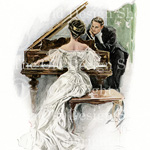 New to my Etsy Shop ~ Harrison Fisher Images: The Waltz, I Hear Her Sing and At The Opera