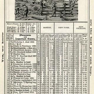 Free Vintage Image ~ Herrick's Almanac 1906, March