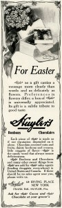 huylers chocolate, vintage advertisement, antique magazine ad, easter chocolate clipart