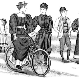 Free Vintage Image ~ Bicycle Outfits 1894