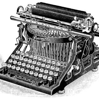 Densmore Typewriter ~ Free Vintage Clip Art