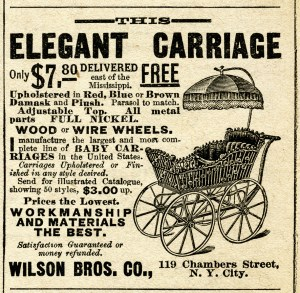 vintage baby clipart, black and white clip art, antique magazine ad, printable baby carriage pram, free digital image