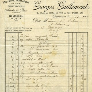 Free Vintage Image ~ Georges Guillemont French Receipt