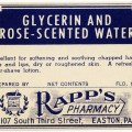 vintage ephemera, antique pharmacy label, old rapp's pharmacy label, free digital graphics, old medical label