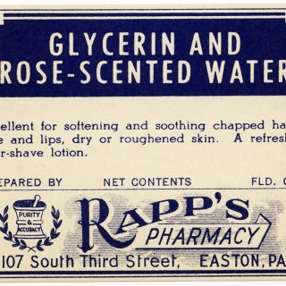 Free Vintage Image ~ Glycerin and Rose-Scented Water Label