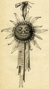 moon face calendar, vintage steampunk clip art, quirky digital graphics, free vintage image, antique calendar illustration