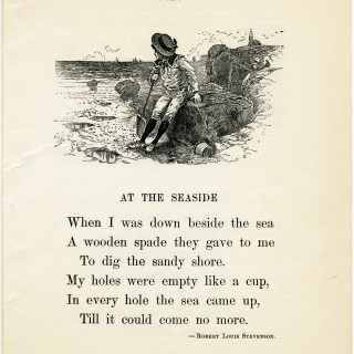 Free Vintage Image ~ At The Seaside Poem and Clip Art