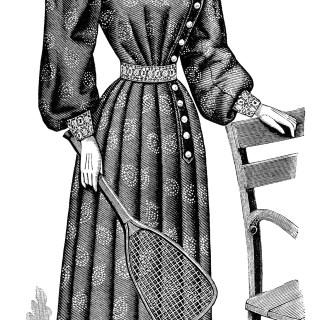 Free Vintage Image ~ Ladies' Tennis Toilette