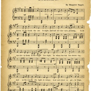Free Vintage Images ~ Lullaby Sheet Music
