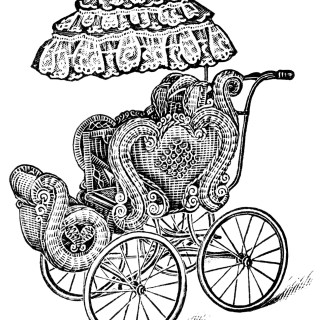 Vintage Baby Carriage ~ Free Clip Art