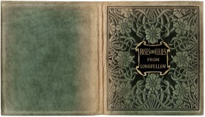 old book cover, textured paper, free vintage texture image, shabby texture graphics, roses and lilies from longfellow