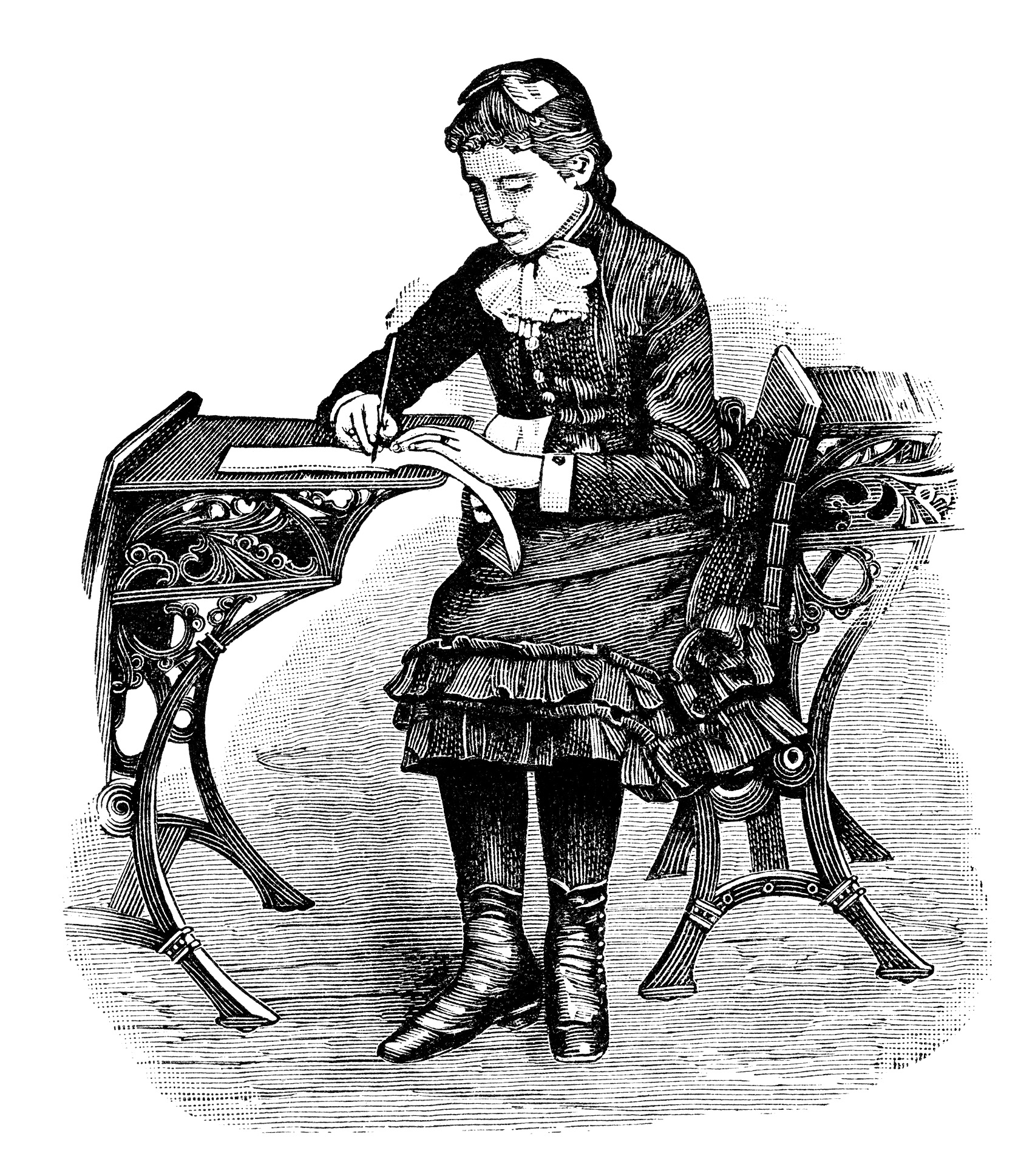 free black and white victorian clip art - photo #7