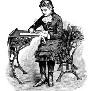 Free Vintage Image ~ Victorian School Girl