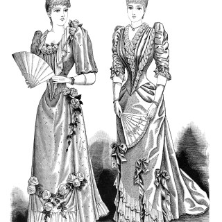 Free Vintage Image ~ Victorian Ladies' Evening Gowns