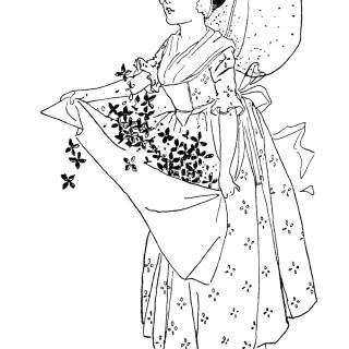 Quaker Lady ~ Free Storybook Image