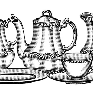 Free Vintage Image ~ Tea Set Clip Art