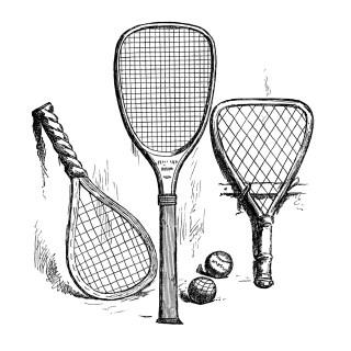 Free Tennis Rackets and Balls Clip Art