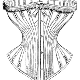 Free Vintage Image ~ Corset Ad and Clip Art