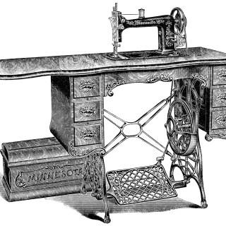 Vintage Sewing Machine ~ Free Clip Art
