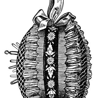 Free Vintage Image ~ A Dainty Pincushion