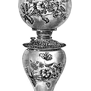 Free Vintage Image ~ Banquet Lamp Clip Art