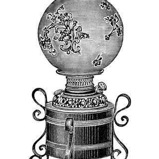 Free Vintage Image ~ Iron Table Lamp