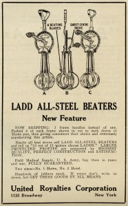 vintage kitchen clipart, free black and white clip art, old magazine ad, ladd beater illustration, antique food mixer image