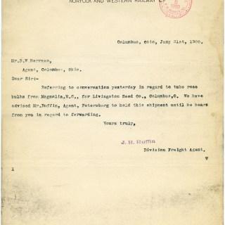 Free Vintage Image ~ Old Typewritten Letter