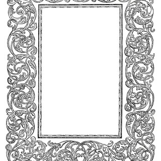 Free Vintage Image ~ Ornate Swirly Frame Clip Art