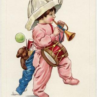 Free Vintage Image ~ Christmas Postcard Santy's Been