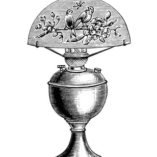 Free Vintage Image ~ Table Lamp Clip Art