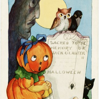 Pumpkin Girl ~ Free Halloween Image