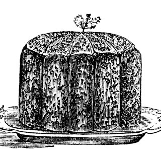 Christmas Plum Pudding ~ Vintage Recipe and Clip Art