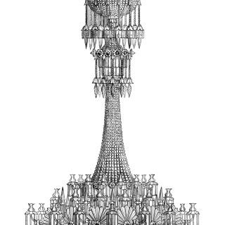 Elaborate Chandelier Engraving