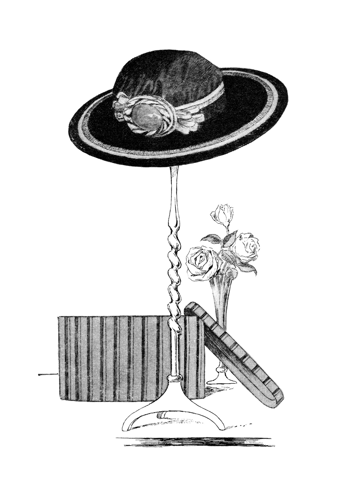 vintage hat clipart - photo #23