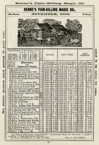 herricks almanac nov 1906, old book page, digital vintage ephemera, shabby paper graphic