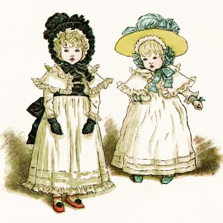 Kate Greenaway Blue Shoes ~ Free Vintage Illustration