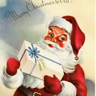 Vintage Santa Greeting Card ~ Free Graphics