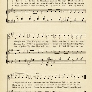 Jolly Santa Claus Vintage Sheet Music ~ Free Graphic