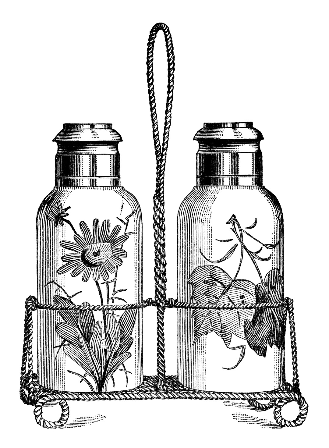 Salt And Pepper Shakers Free Vintage Clip Art Old