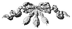vintage bow clipart, black and white clip art, ornamental ribbon, handbook of ornament, franz meyer