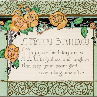 Art Deco Birthday Card ~ Free Download