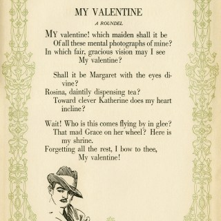 Free Vintage Illustrated Valentine Poem