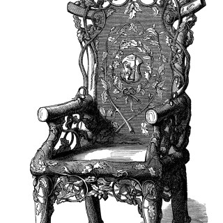 Antique Rustic Chair ~ Free Clip Art Image