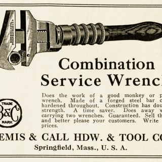 Free Vintage Magazine Advertisement and Clip Art ~ Combination Service Wrench