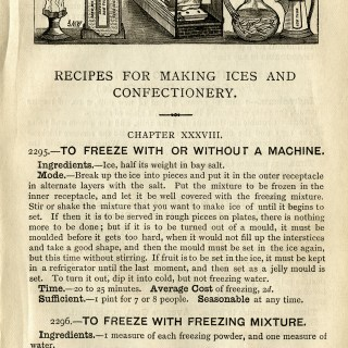 Vintage Ice Cream Recipes ~ Free Digital Graphics