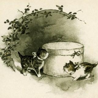 Curious Kittens ~ Vintage Storybook Image