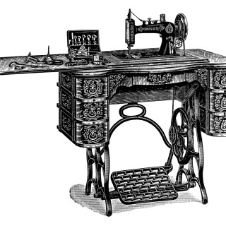 Free Vintage Treadle Sewing Machine Images ~ Catalogue Page and Clip Art