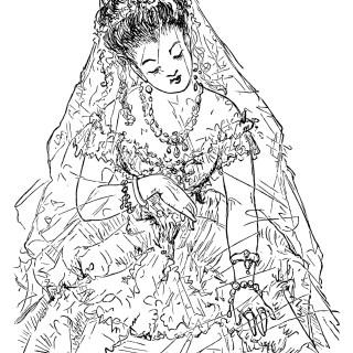 Victorian Bride Clip Art ~ Free Download