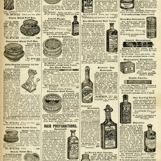 Vintage Beauty Products ~ Free Printable Catalogue Page
